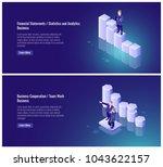 financial statement  statistics ... | Shutterstock .eps vector #1043622157
