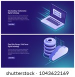 data guarding  authorization... | Shutterstock .eps vector #1043622169