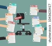 hands sending cv resume... | Shutterstock .eps vector #1043623417