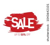 sale  up to fifty percent... | Shutterstock .eps vector #1043642101