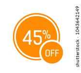 forty five percent off... | Shutterstock .eps vector #1043642149
