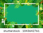 natural background with green... | Shutterstock .eps vector #1043642761