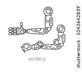 bionic robot arm prosthesis... | Shutterstock .eps vector #1043642839
