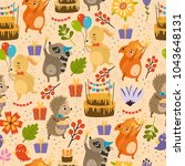 vector seamless pattern with... | Shutterstock .eps vector #1043648131