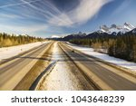 trans canada highway  hwy 1 ... | Shutterstock . vector #1043648239