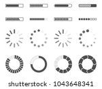 loading bar icons set  load... | Shutterstock .eps vector #1043648341