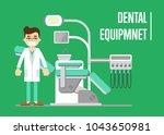 male dentist standing near...   Shutterstock . vector #1043650981