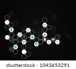 abstract molecules medical... | Shutterstock . vector #1043653291