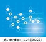 abstract molecules medical... | Shutterstock . vector #1043653294