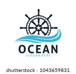 nautical navy cruise vector... | Shutterstock .eps vector #1043659831