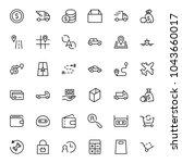 online store flat icon set.... | Shutterstock .eps vector #1043660017
