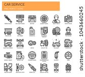 car service   thin line and... | Shutterstock .eps vector #1043660245
