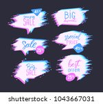 set of sale design template... | Shutterstock .eps vector #1043667031