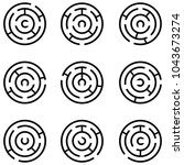 maze icon set | Shutterstock .eps vector #1043673274