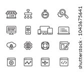 web development outline icons ... | Shutterstock .eps vector #1043675641