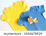 babies fashion clothing ... | Shutterstock . vector #1043678929