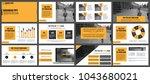 business presentation slides... | Shutterstock .eps vector #1043680021