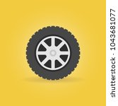 car wheel flat icon   vector... | Shutterstock .eps vector #1043681077