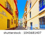 streets in downtown of the city ...   Shutterstock . vector #1043681407