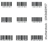 bar code icon set | Shutterstock .eps vector #1043683957