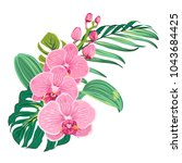 flowers orchid bouquet with... | Shutterstock .eps vector #1043684425