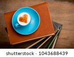 cup of coffee with heart shape...   Shutterstock . vector #1043688439