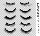 realistic detailed 3d feminine... | Shutterstock .eps vector #1043690479