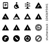 solid vector icon set   parking ... | Shutterstock .eps vector #1043695441