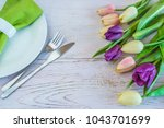 Spring Table Setting With...