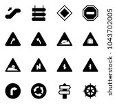 solid vector icon set  ... | Shutterstock .eps vector #1043702005