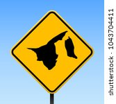 brunei map road sign. square... | Shutterstock .eps vector #1043704411