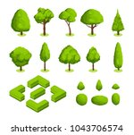 isometric 3d vector park and... | Shutterstock .eps vector #1043706574