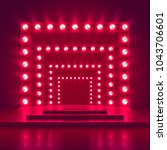 retro show stage with light... | Shutterstock .eps vector #1043706601