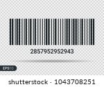 new realistic barcode icon... | Shutterstock .eps vector #1043708251