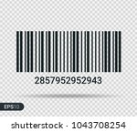 new realistic barcode icon... | Shutterstock .eps vector #1043708254