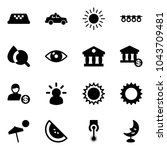 solid vector icon set   taxi...   Shutterstock .eps vector #1043709481