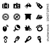 solid vector icon set  ... | Shutterstock .eps vector #1043710945