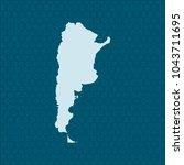 map of argentina | Shutterstock .eps vector #1043711695