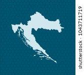 map of croatia | Shutterstock .eps vector #1043711719