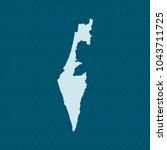 map of israel | Shutterstock .eps vector #1043711725