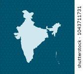 map of india | Shutterstock .eps vector #1043711731