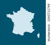 map of france | Shutterstock .eps vector #1043711749