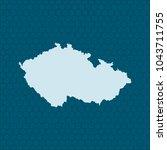 map of czech republic | Shutterstock .eps vector #1043711755