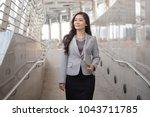 senior attractive business... | Shutterstock . vector #1043711785
