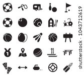 solid black vector icon set  ... | Shutterstock .eps vector #1043712619