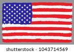 grunge american flag.flag of... | Shutterstock .eps vector #1043714569