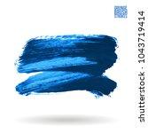 blue brush stroke and texture....   Shutterstock .eps vector #1043719414
