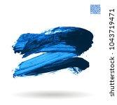 blue brush stroke and texture....   Shutterstock .eps vector #1043719471
