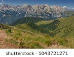 catinaccio rosengarten mountain ... | Shutterstock . vector #1043721271