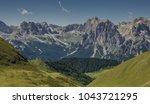 catinaccio rosengarten mountain ... | Shutterstock . vector #1043721295